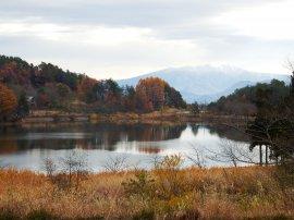 玉虫沼と蔵王:写真