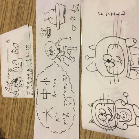 嬉しい、置き手紙やお絵描きも!!:画像