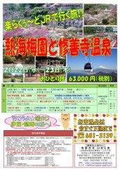 JRで行く!熱海梅園と修善寺温泉:画像
