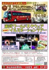 プレミアムバスで行く!東武ワールドスクウェアイルミネーション★:画像