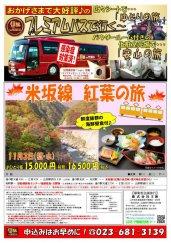 プレミアムバスで行く!米坂線 紅葉の旅:画像