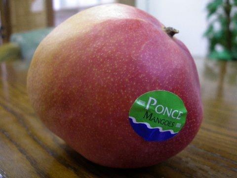 「メキシコマンゴー」の呼び名で知られる「アップルマンゴー」です。:画像