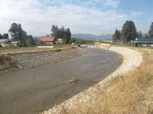 平成25年度 河川整備補助事業(防災安全・広域河川)萩生川護..:画像