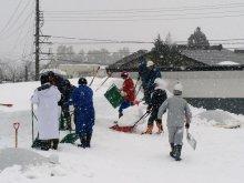 2月4日雪下ろし作業:画像