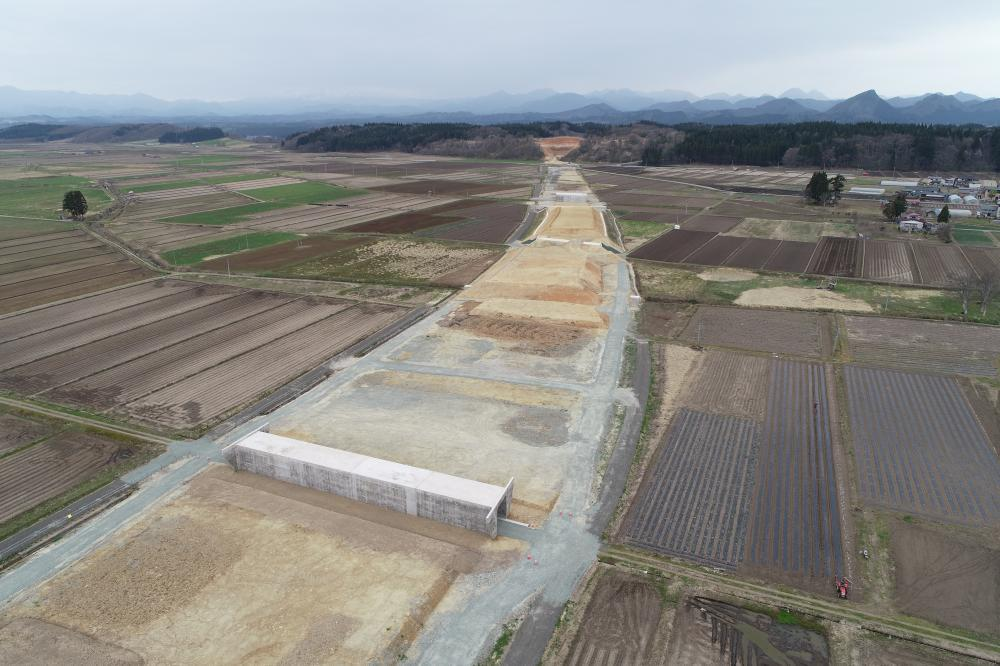 萩野地区道路改良工事:画像