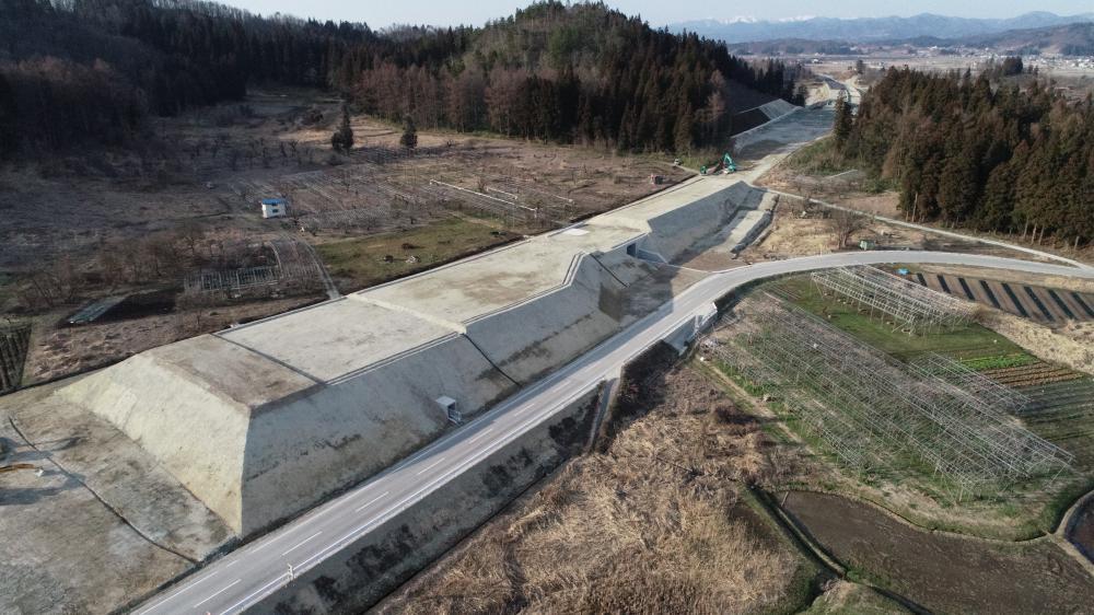 沢田地区道路改良工事:画像