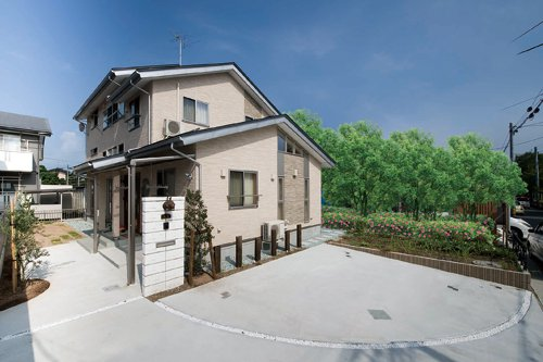 豊富な収納空間が家の中にある眺めのよい2.5F建ての家 / 山形市O様邸:画像