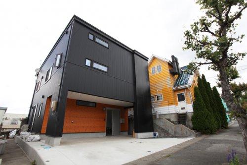 スマートモダンなブラックキューブハウス / 山形市S様邸:画像