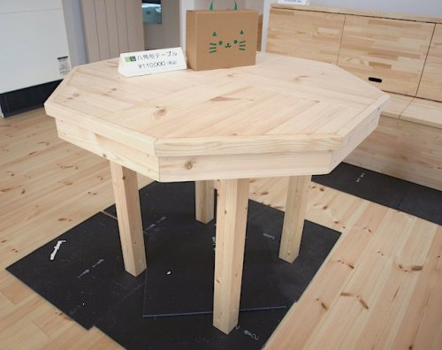 八角形テーブル:画像