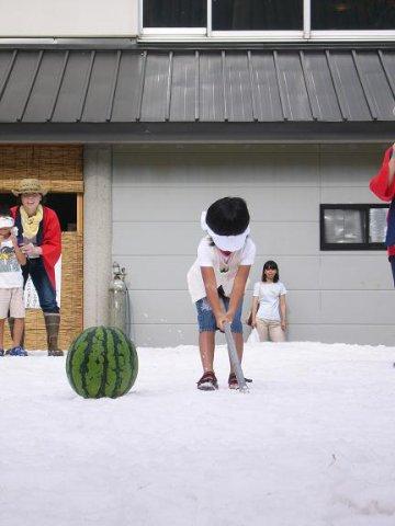 毎年恒例の真夏の雪まつり!:画像