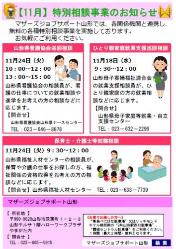 11月「特別相談事業」開催のお知らせ:画像