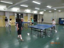 長井市老人クラブ連合会「シルバー卓球クラブ」元気に始動:画像