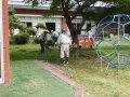 老人福祉センターの草刈りボランティアを行いました。:画像