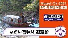 【長井市】ながい百秋湖遊覧船(令和3年10月14日):画像