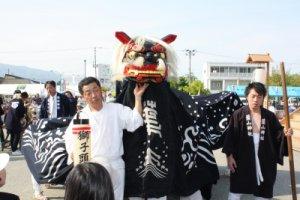 【第21回ながい黒獅子まつり〜葉山神社】:画像