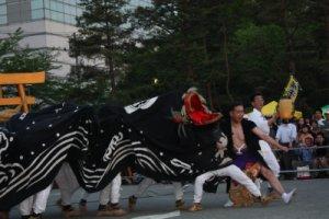 【第21回ながい黒獅子まつり〜草岡 津嶋神社】:画像