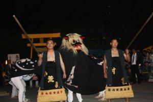 【第21回ながい黒獅子まつり〜五所神社】:画像