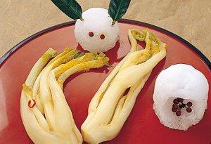 【冬の幻の菜『雪菜漬』】:画像