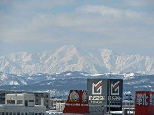 【飯豊連峰が見えました】:画像