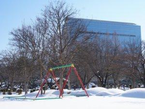 【冬のつつじ公園】:画像