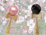 【桜模様のけん玉 できました♪】:画像