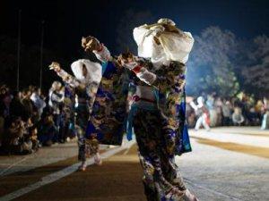 【夜桜の伊佐沢念佛踊り&さくら通信。*+】:画像