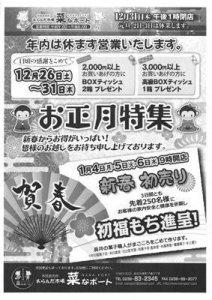 【2016年〜菜なポート〜お正月特集】:画像