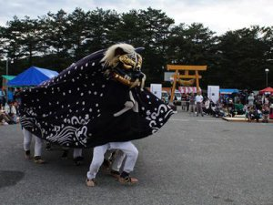 【第27回ながい黒獅子まつり〜総宮神社(勧進代)】:画像