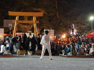 【第27回ながい黒獅子まつり〜五所神社(寺泉)】:画像