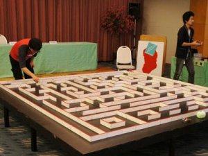 【明日のマイクロマウス東北地区大会に向けて試走会実施!】:画像