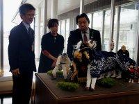 【黒獅子人形が寄贈されました 〜さくら通信〜】:画像