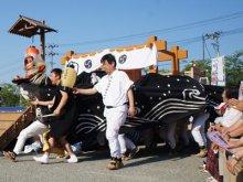 【第28回ながい黒獅子まつり−津嶋神社(草岡)−】:画像