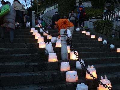 【雪灯り回廊 in 池上本門寺】:画像