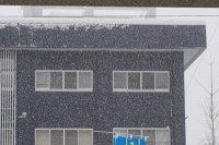 【猛吹雪の長井市】:画像