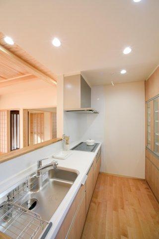 対面式のキッチン:画像