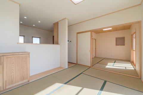 たたみリビング と つながる和室:画像