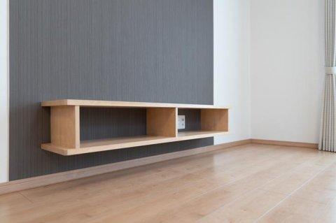 造りつけシンプルテレビボード:画像