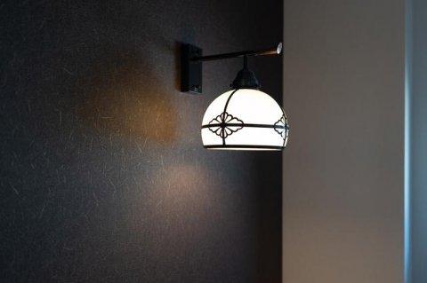 トイレ 大正浪漫なブラケットライト。:画像