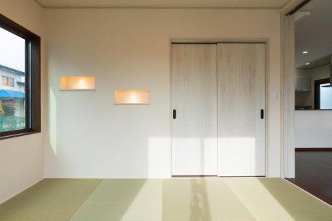 モダン和室 ニッチには照明を設けあたたかな雰囲気に:画像