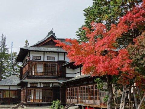 上杉伯爵邸の紅葉:画像