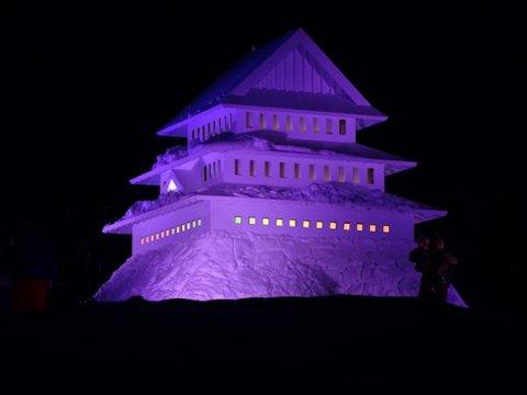 築山を利用した米沢城のシンボル「米沢城御三階」:画像