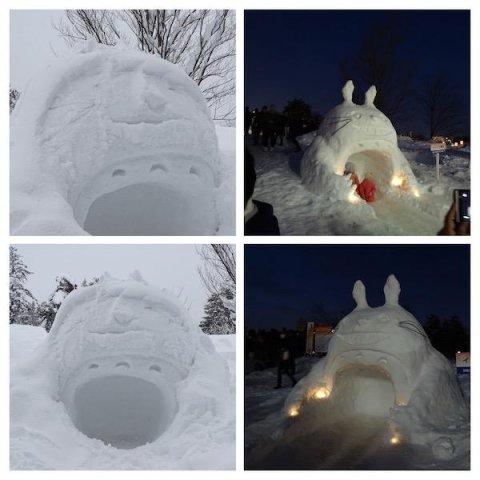 トトロの雪像:画像