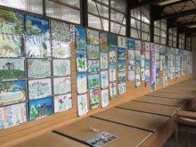 あやめ公園の無料休憩所にて「あやめ写生大会」の展示中!:画像