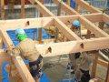 【郡山市新屋敷・ドミノI邸 】 金物工法での建て方:画像