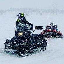 豊田地区【冬の白川雪あそびでボート初使用】で楽しみました。:画像