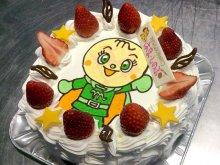 メロンパンナちゃんのバースデーケーキ:画像