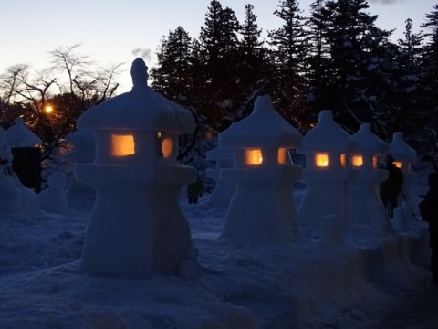 米沢上杉雪灯篭まつり❄️:画像