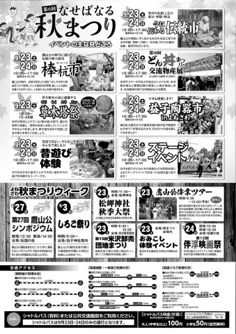 内容詳細・秋まつりウィーク・交通アクセス:画像