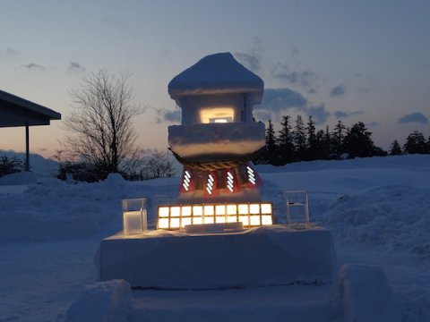 2018-2-9 Uesugi garden lantern made of snow Festival pre-lighting: Image