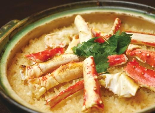 蟹の土鍋ご飯